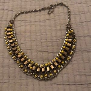 Edgy collar statement necklace